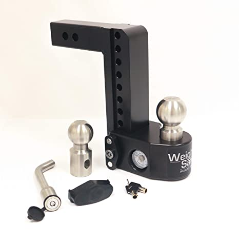 Weigh Safe WS6-2-KA Keyed Alike Key Lock and Hitch Pin Adjustable Aluminum Trailer Hitch /& Ball Mount w//Built-in Scale 2 /& 2-5//16 6 Drop Hitch w// 2 Shank//Shaft 2 Stainless Steel Balls