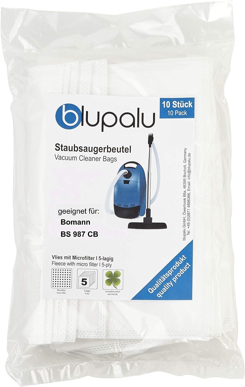 blupalu I - Bolsas para aspiradoras Bomann BS 987 CB I (10 ...