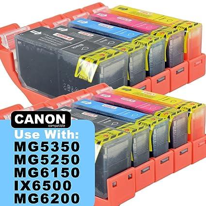 Gran valor Canon PGI-525 CLI-526 cartuchos de tinta. 10 cartuchos ...