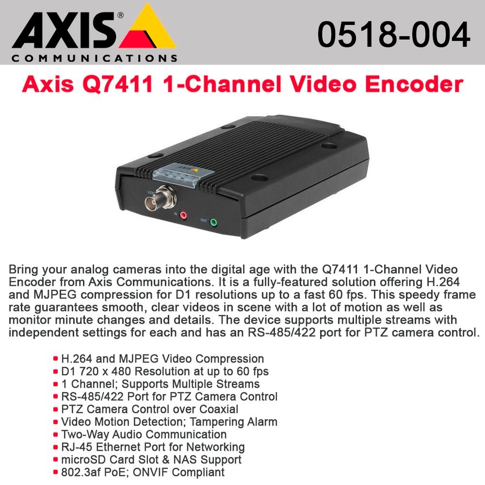 Axis Communications Q7411 Video Encoder 0518-004 by Axis