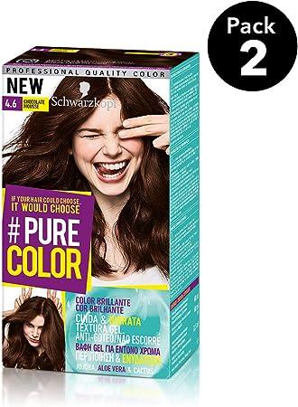 Pure Color de Schwarzkopf Tono 4.6 Chocolate Mousse - 2 uds - Coloración Permamente