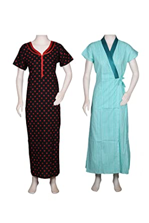 Stritva Women Sleepwear Maternity Feeding Cotton Front Zip Nighty and  Housecoat Set of 2 Nighties  Amazon.in  Clothing   Accessories fac9d9930
