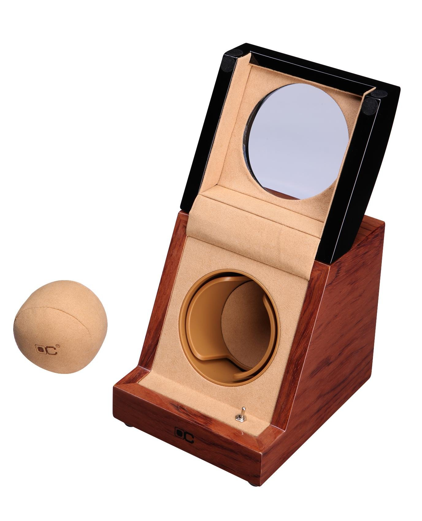 KAIHE-BOX Classic Watch Winders for 1 Watches for automatic Watch Winder Rotator Case Cover Storage H , #1 by KAIHE-BOX (Image #8)