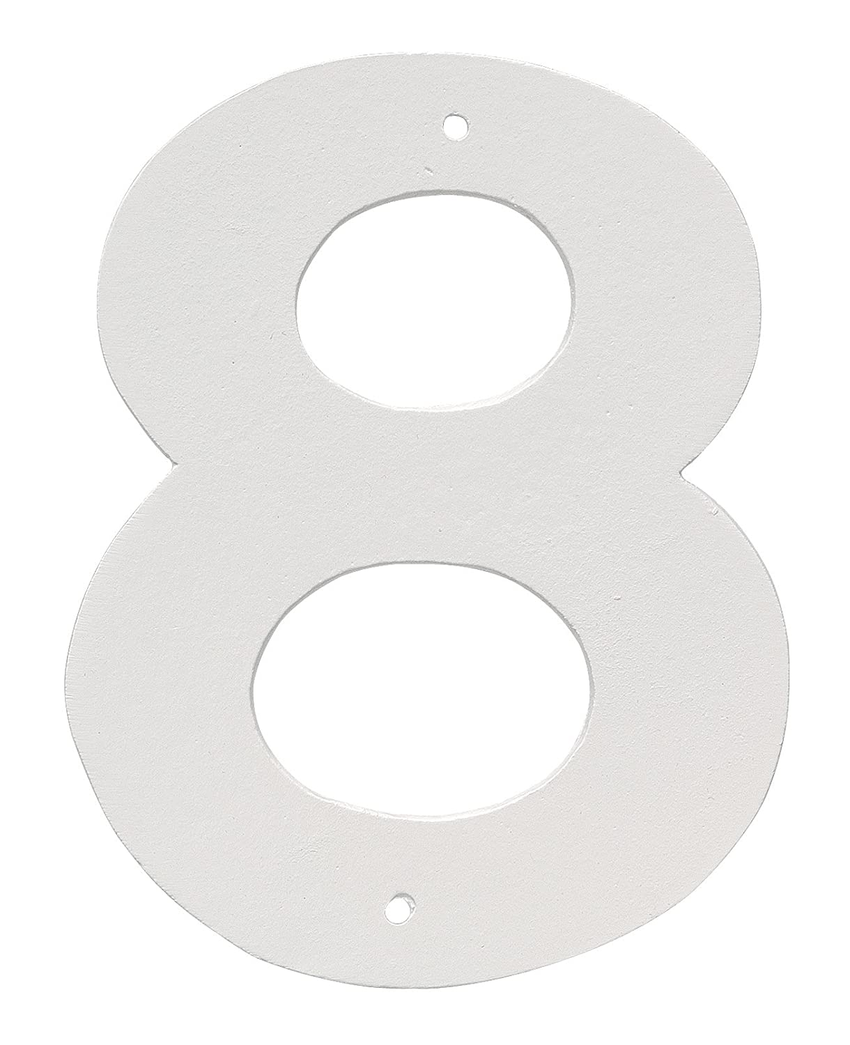 Montague Metal Products 8' Aluminum House Number 8 Outdoor Plaque, Medium, White