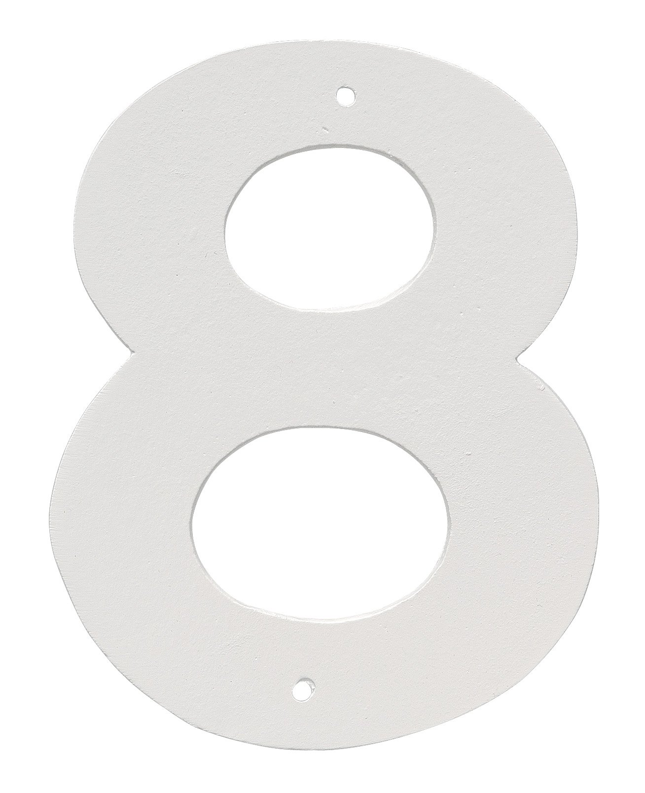 Montague Metal Products 8'' Aluminum House Number 8 Outdoor Plaque, Medium, White