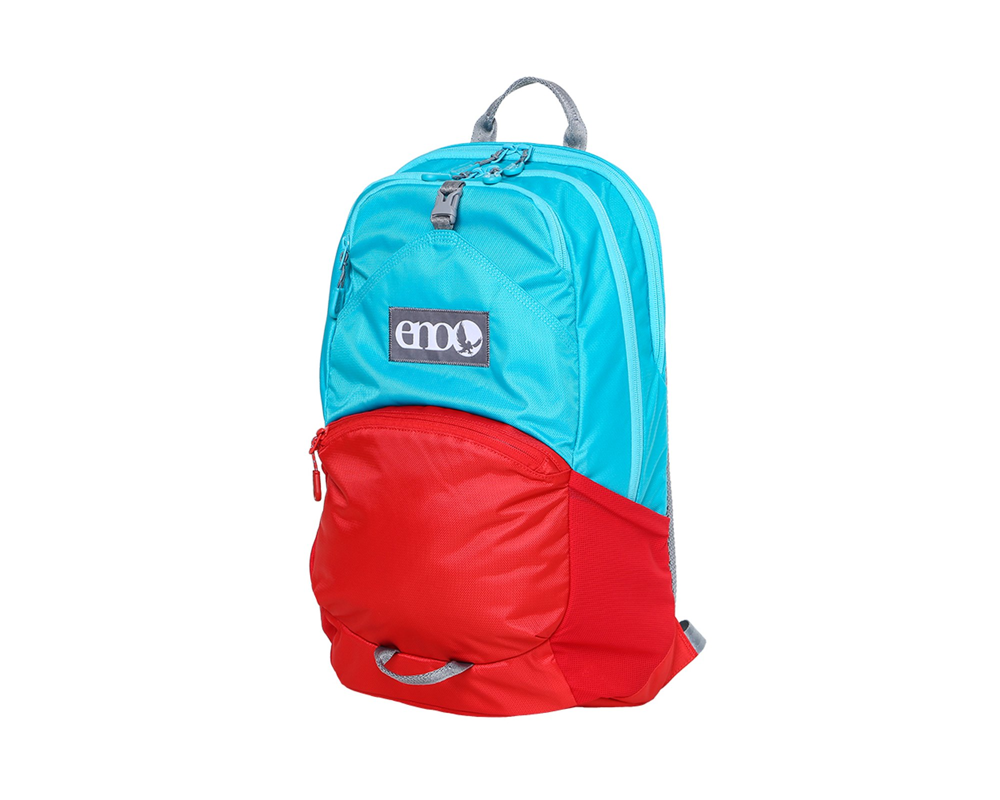 Eagles Nest Outfitters ENO Manchester Backpack, Aqua/Red