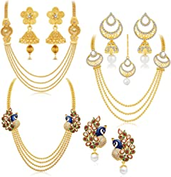 Sukkhi Jewellery Sets for Women (Golden) (457CB2700)