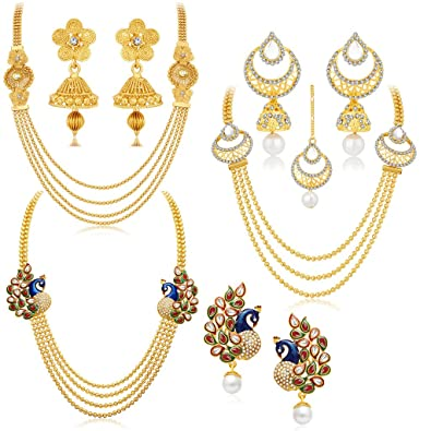 a239b082f9f Buy Sukkhi Jewellery Sets for Women (Golden) (457CB2700) Online at ...