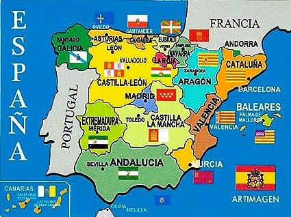 Amazon.es: Artimagen Pegatina Mapa España 80x60 mm.