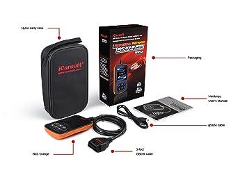 Nissan Infiniti Subaru OBDII escáner herramienta de diagnóstico Coche Camión SUV código error Reset Borrar OBD2 - iCarsoft I903: Amazon.es: Coche y moto