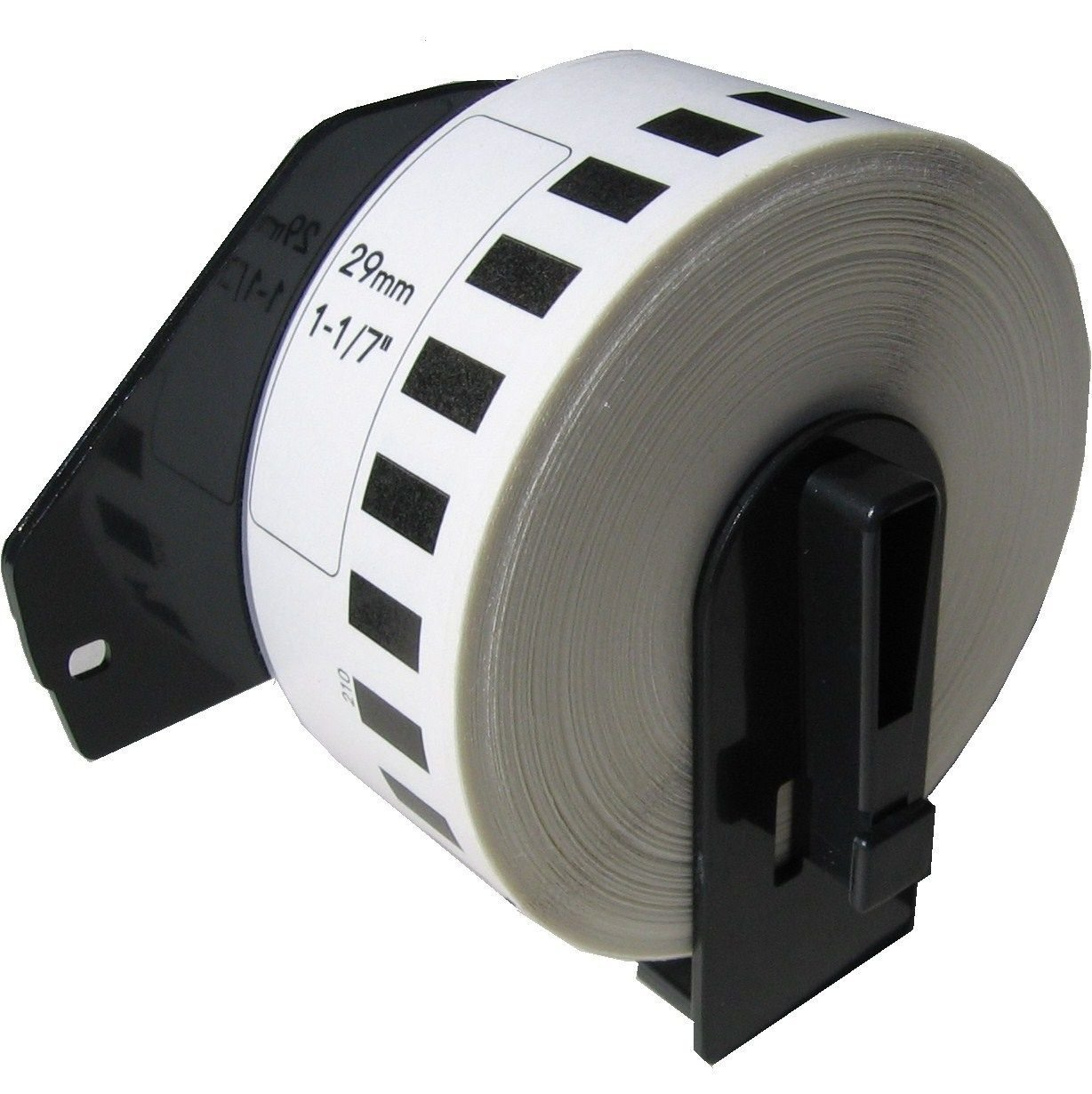 Continuous Paper, BROTHER-Compatible DK-2210 Continuous Paper Labels with Reusable cartridge (1-1/7'' x 100'; 29mm30.48m) - BPA Free! (2 Rolls+1 Cartridge)