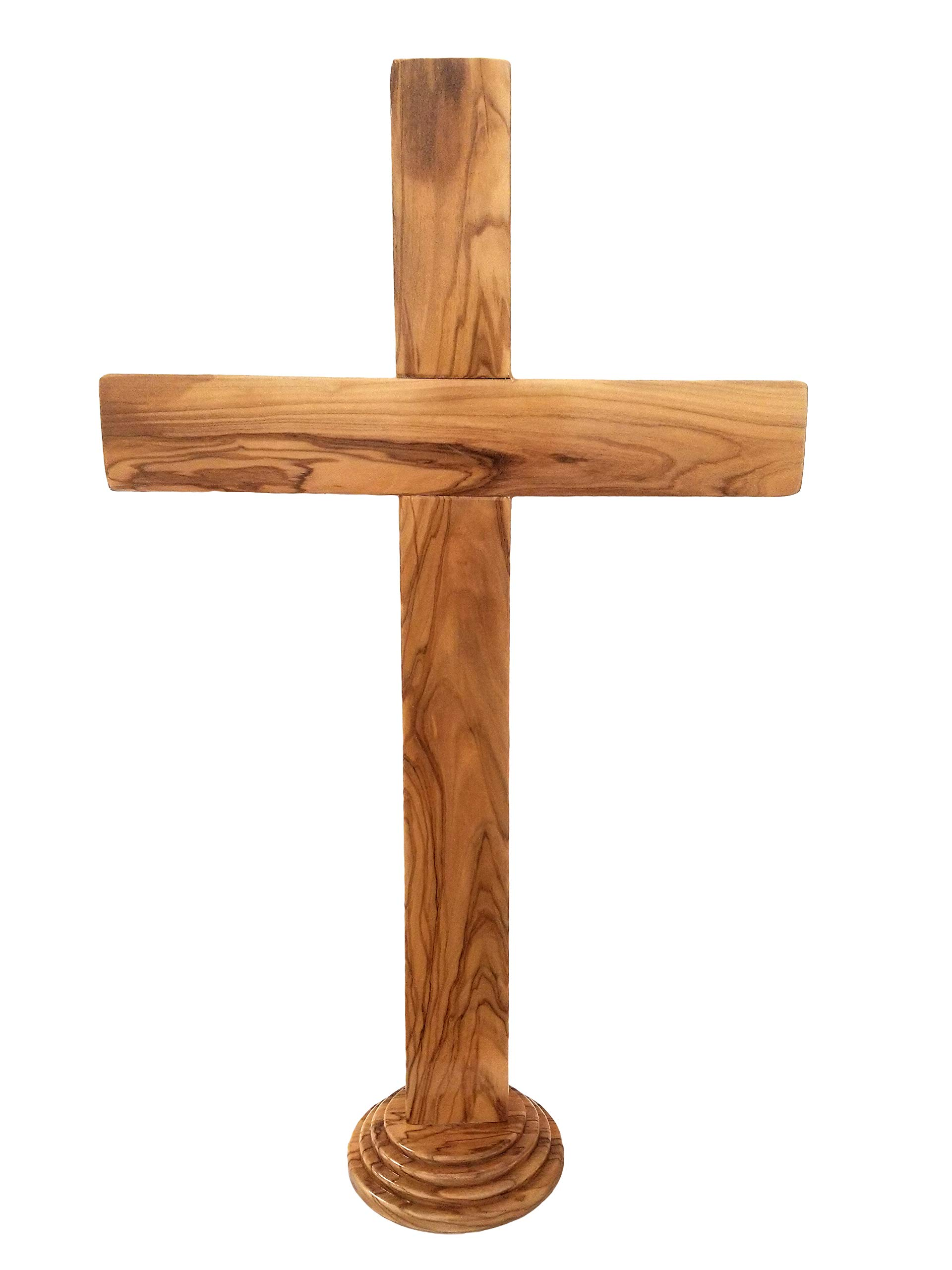 Holy Land 20'' Genuine Olive Wood Standing Cross by Logos Trading Post
