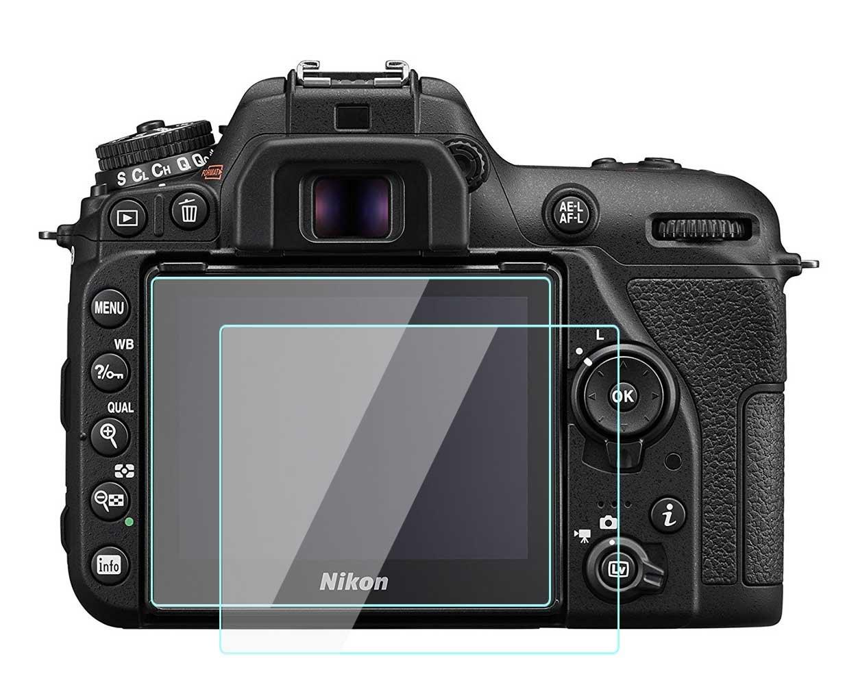 Protector de pantalla táctil para Nikon D7500, 0,33 mm de grosor, dureza 9H, 2 unidades, de cristal templado: Amazon.es: Electrónica