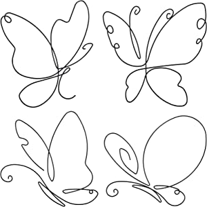 Leifide 4 Pieces Metal Butterfly Wall Decor Butterfly Metal Wall Art Beautiful Butterfly Shape Wall Art Decors for Home Office Living Room Bedroom