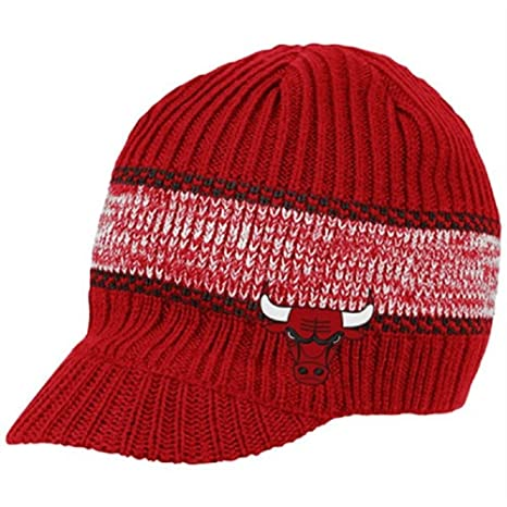 Image Unavailable. Image not available for. Color  Chicago Bulls Visor Knit Beanie  hat ... a2a380879c1