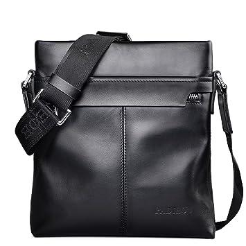 e5a20809a4 Padieoe Men Leather Handbag Shoulder Bag Business Messenger Backpack  Crossbody Casual Tote Sling Travel bag with Handle and Adjustable Strap   Amazon.co.uk  ...