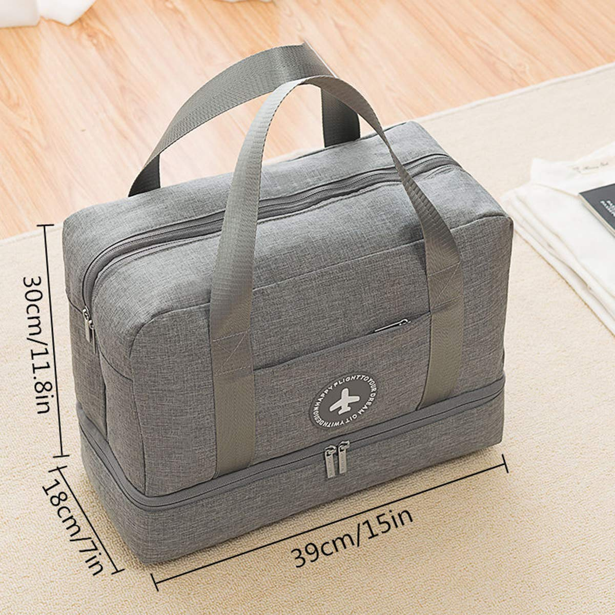 Vaincre Swim Bag, Dry Wet Area & Shoe Compartment Separated Waterproof Duffle Bag for Gym, Pool, Beach by Vaincre (Image #2)