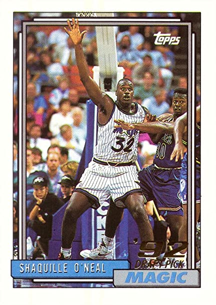 1992 93 Topps Basketball 362 Shaquille Oneal Rookie Card