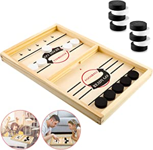 Table Desktop Battle 2 in 1 Ice Hockey Game Catapult Chess Bumper Classic Battle Sports Board Game Home Interactive Games Toys for Adults, Boys and Girls