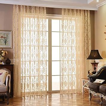 Amazon.com: HY&PPJQ European Curtain,Gauze Window Screen ...