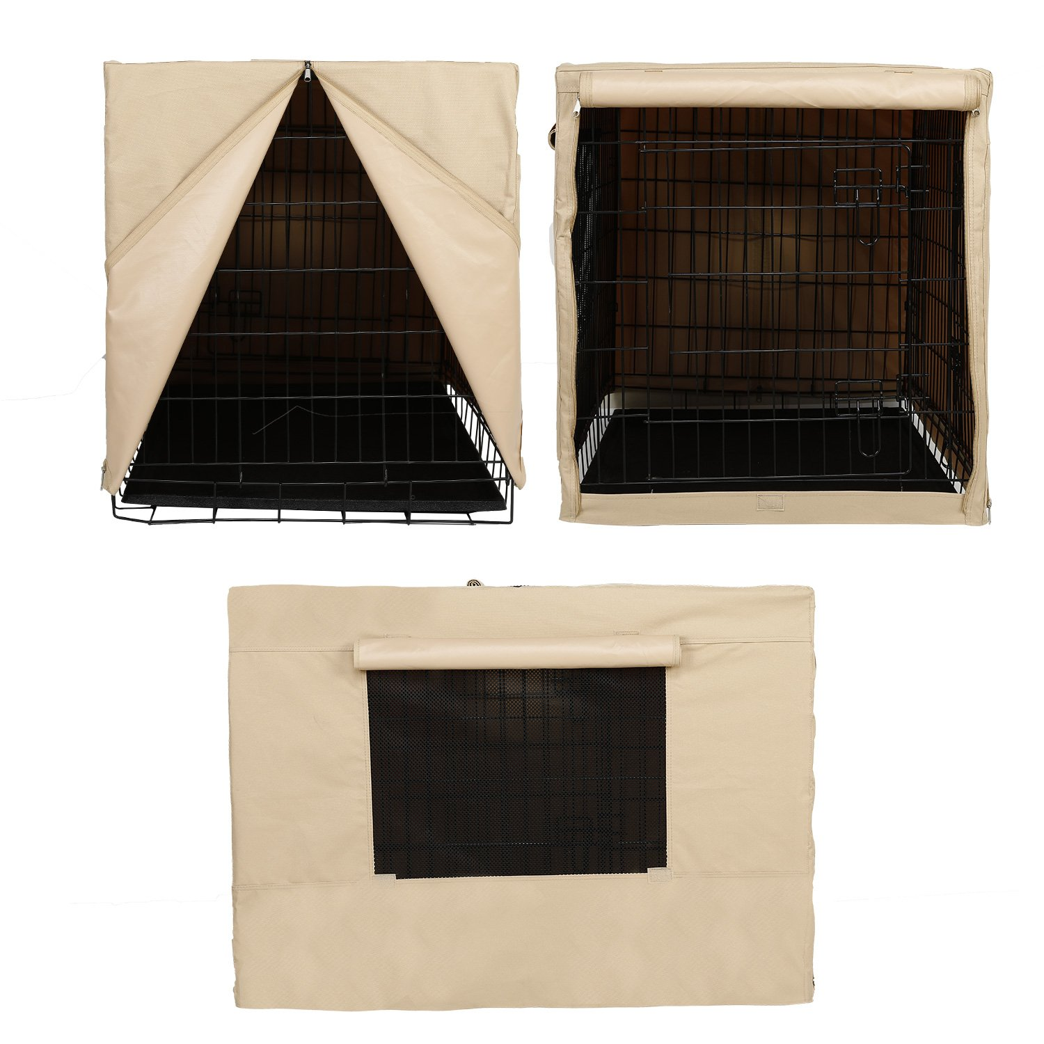 X-ZONE PET Indoor/Outdoor Dog Crate Cover, Polyester Crate Cover or Durable Windproof Kennel Covers for Wire dog Crates (30-Inch) by X-ZONE PET (Image #4)