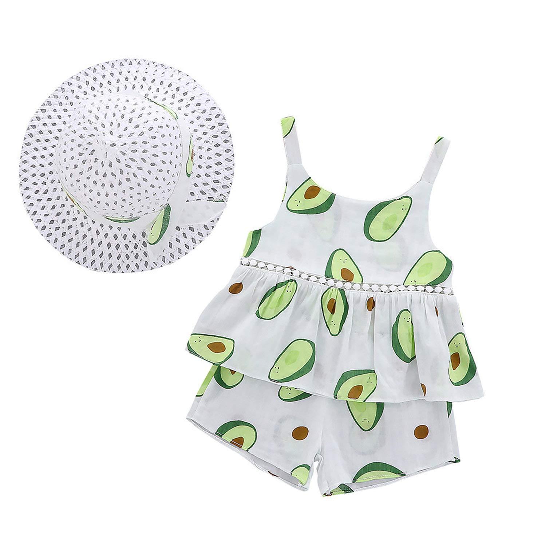 3pcs Toddler Baby Girl Princess Outfit