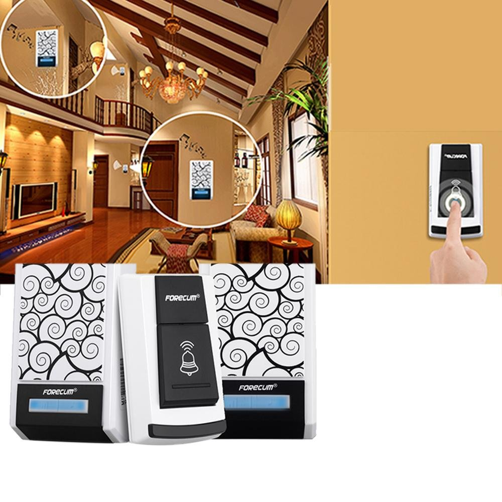 Pawaca Smart Wireless Doorbell, Waterproof Doorbell Kit, With Two Receivers, Operating At Over 100m Range, With 36 Chimes Tones, Battery Operated, for Home Office by Pawaca (Image #3)