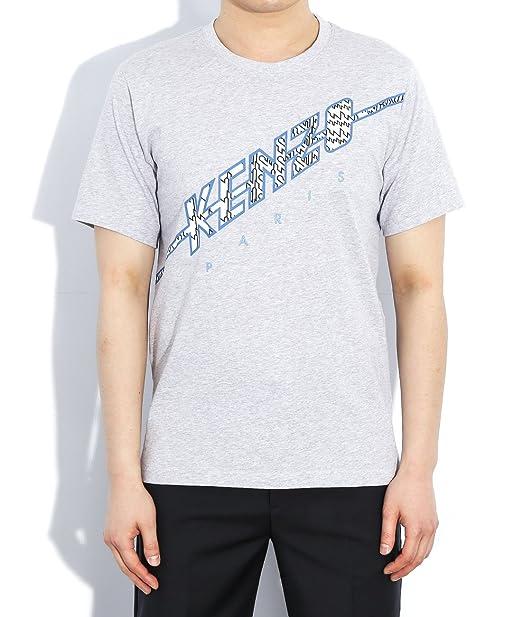 Wiberlux Kenzo Hombre Algodón Logo camiseta de la impresión - Gris -