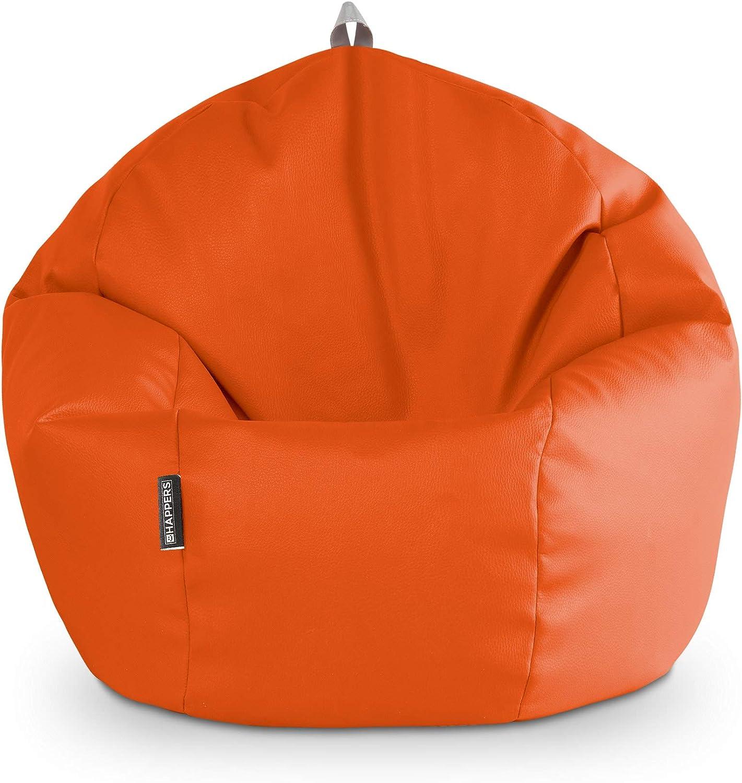 HAPPERS Puff Pelota Polipiel Indoor Naranja: Amazon.es: Hogar