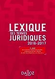 Lexique des termes juridiques 2016-2017 (Lexiques)