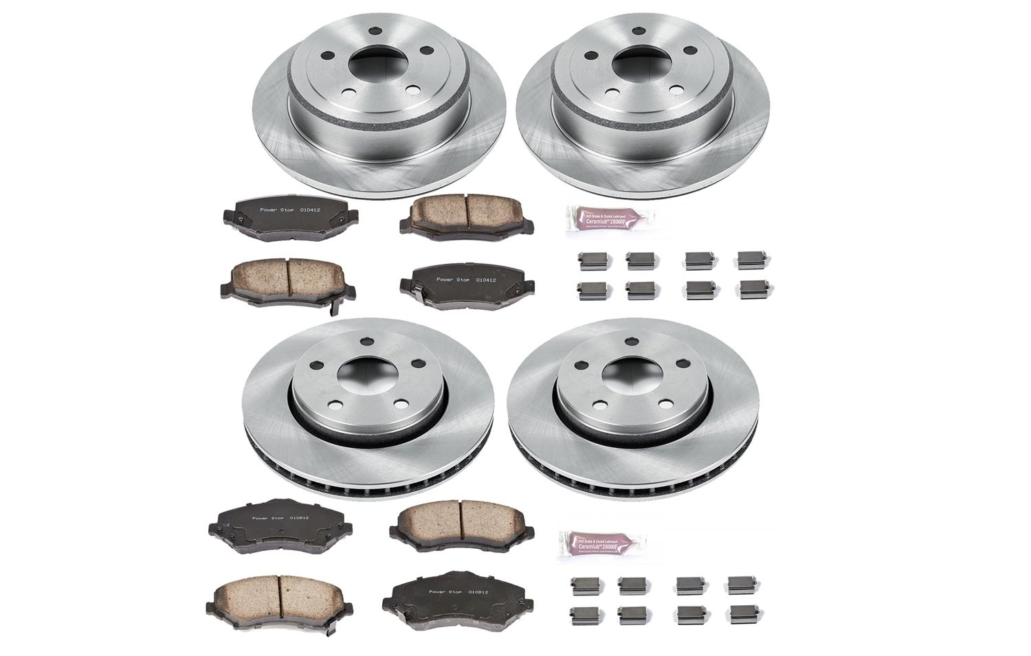 Autospecialty KOE2798 1-Click OE Replacement Brake Kit by POWERSTOP (Image #1)