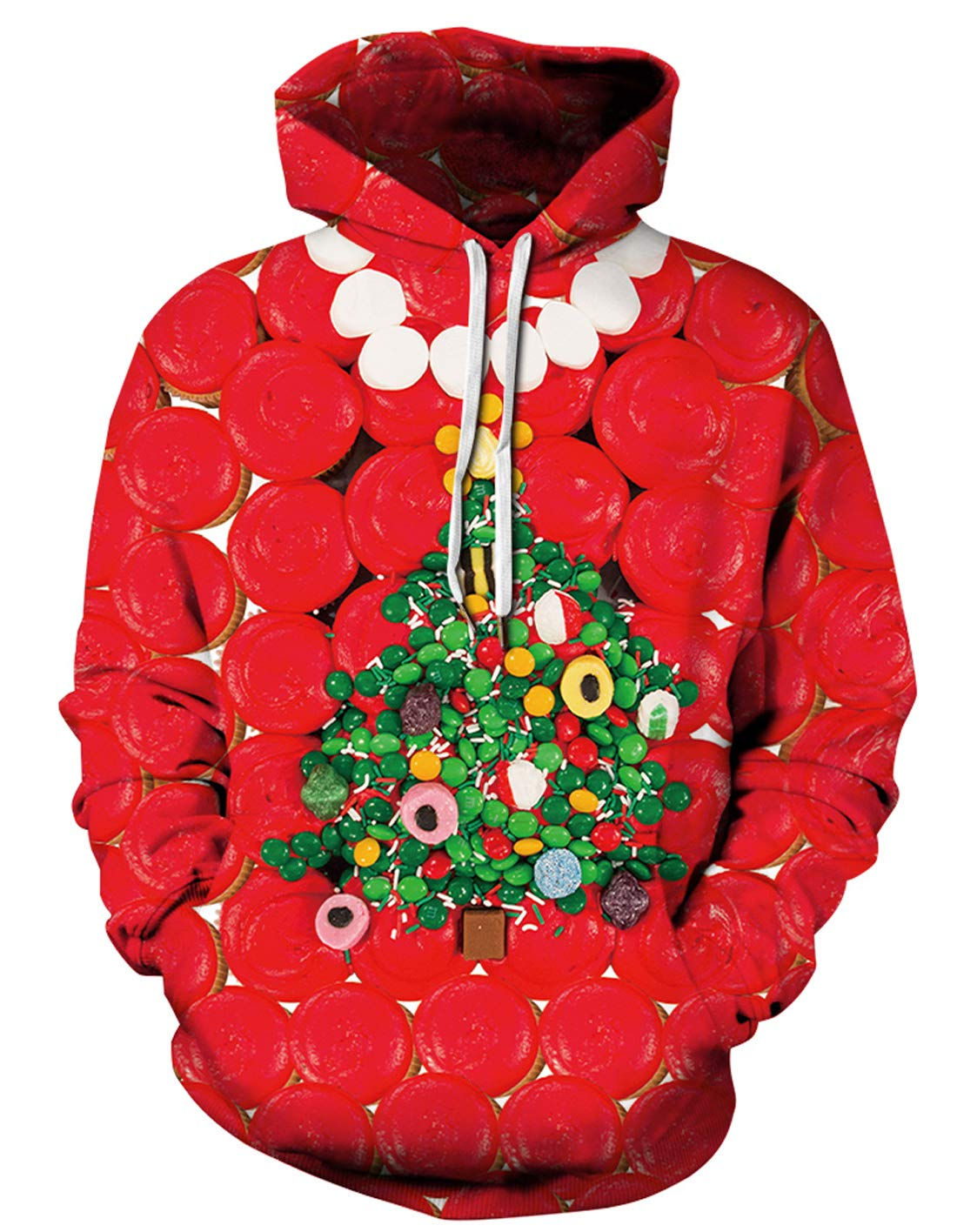 URVIP Unisex Realistic 3D Print Pullover Sweatshirt Hoodies with Big Pockets QYDM-461 XXL/XXXL by URVIP
