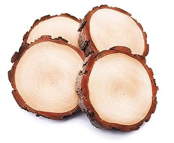 70 Stk Holzscheiben 3-9cm Baumscheiben Holz Scheibe Birkenscheibe Holzscheibe