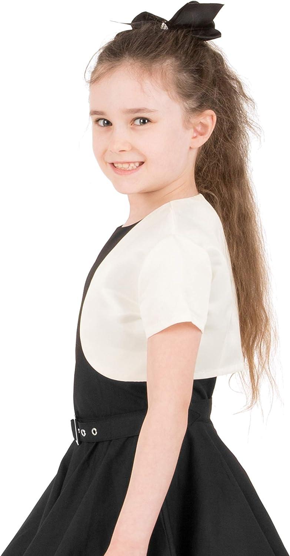 BlackButterfly Kids Satin Short Sleeve Bolero Childrens Girls Shrug