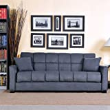 Baja Convert-a-couch and Sofa Bed, Multiple Colors (Charcoal)