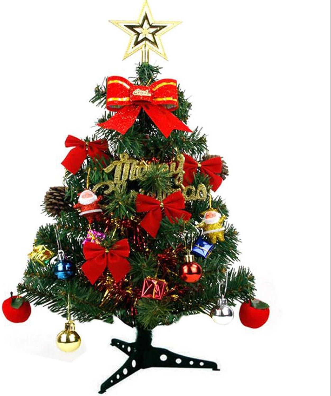 Jonck Studios 2ft PVC Christmas Tree Pre-Lit Fiber Optic Tree with Metal Stand