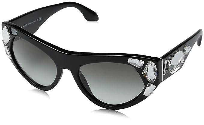 2a6c8e4197a1 Amazon.com  Prada Women s 0PR 21QS Black Grey Gradient Sunglasses ...