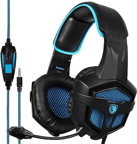 SADES SA807PLUS - Auriculares de diadema estéreo para juegos con ...