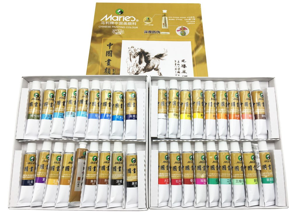 Marie's 中国 ペイントカラー チューブ 水彩セット 5 ml 12色 43188-333784 B07317G2PS Marie12mlx36colors Marie12mlx36colors