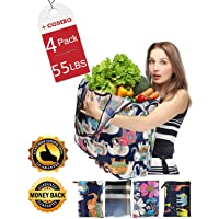 Deals on 4-Pack Fengjida Lightweight Washable Waterproof Reusable Bags