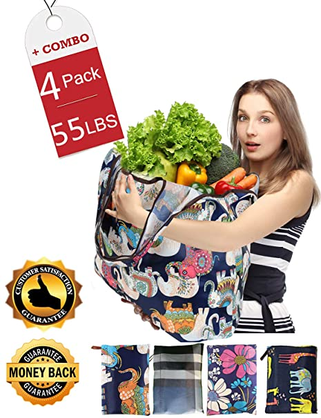 Amazon.com: Bolsas reutilizables para la compra, grandes ...