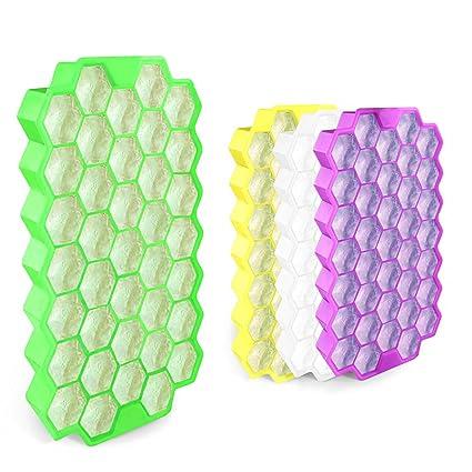 Cubito de hielo de silicona 37 Cubos con cubierta impermeable - FDA Grado de Alimentos Moldes