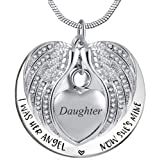 Amazon Price History for:Angel Wing Urn Necklace for Ashes, Heart Cremation Memorial Keepsake Pendant Necklace Jewelry with Fill Kit and Gift Box