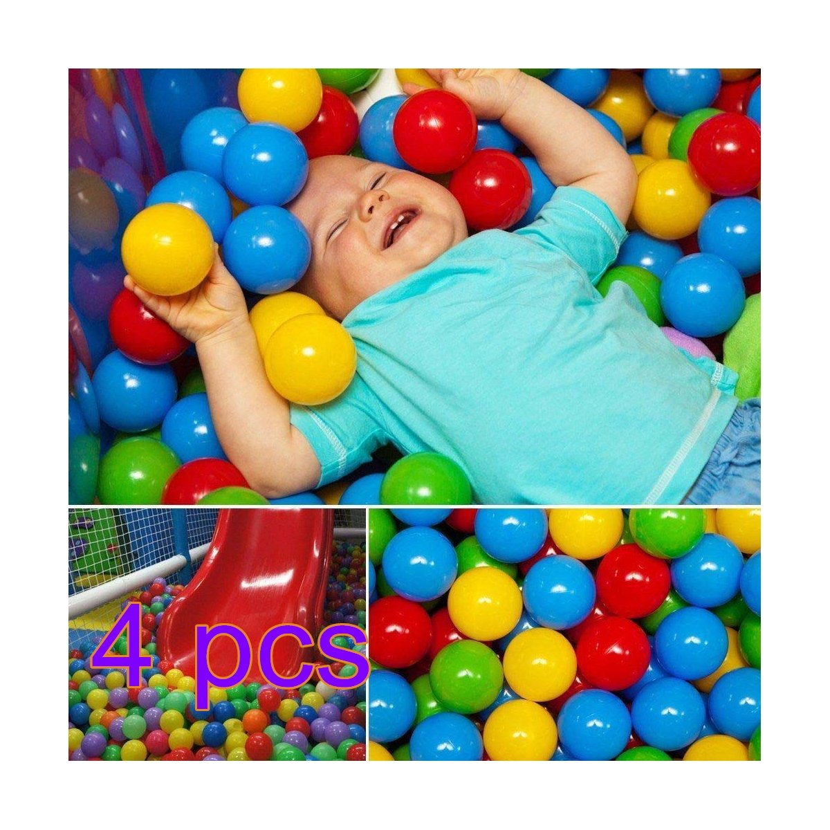 200pcs Colorful Ball Fun Ball Soft Plastic Ocean Ball Free BPA Free Crush Proof For Baby Kid Toy Swim Pit Toy