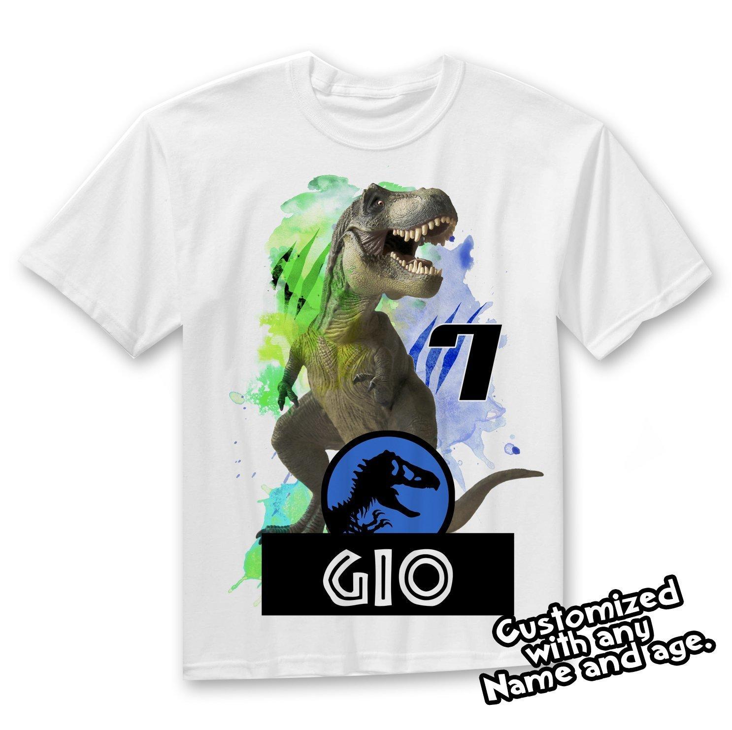 Jurassic World Dinosaur Personalized Birthday Shirt Party Favor, Jurassic Park Birthday shirt