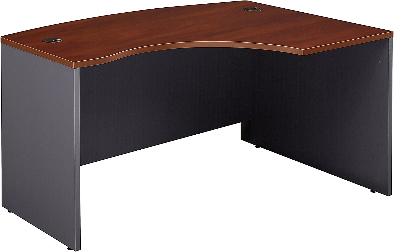 Bush Business Furniture Series C Collection 60W x 43D Right Hand L-Bow Desk Shell in Hansen Cherry