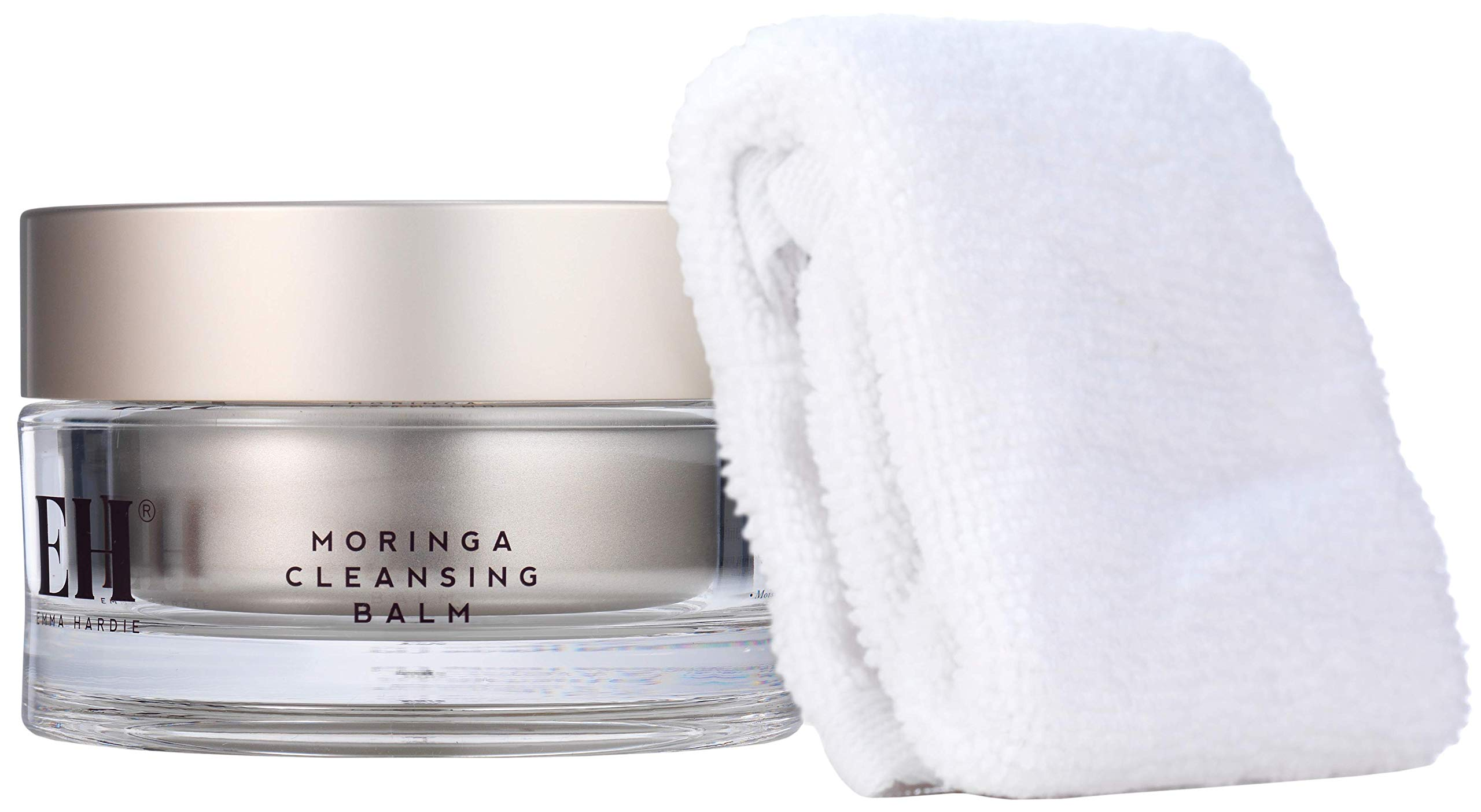 Emma Hardie | Moringa Cleansing Balm With Dual-Action Cleansing Cloth | Deep Clean | For All Skin Types | Paraben Free | 3.52 oz balm - 1 cloth by Emma Hardie
