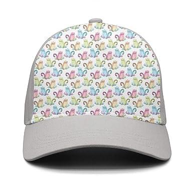 Cute Cartoon Cats Mens Womens Baseball Hats Golf Trucker Hat At