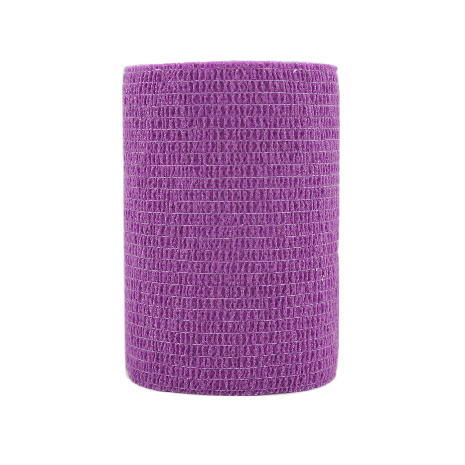 COMOmed Self Adherent Cohesive Bandage Latex FDA Approved 3''x5 Yards First Aid Ace Bandages Stretch Sport Athletic Wrap Vet Tape for Wrist Ankle Sprain and Swelling,Purple(12 rolls) by COMOmed
