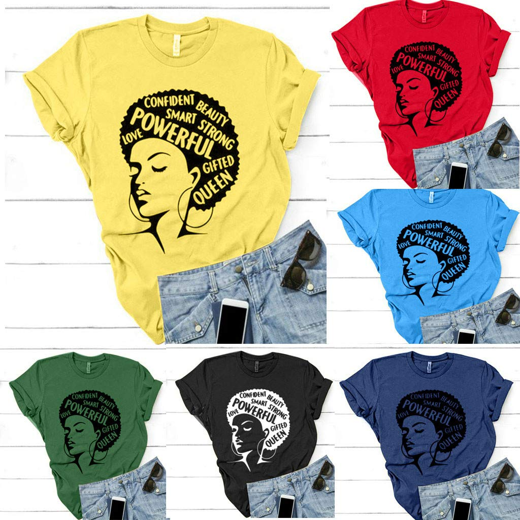e8f62ee912a74d Triskye Summer Women's Cute Funny Graphic T Shirts Tops Short Sleeve Tees  at Amazon Women's Clothing store: